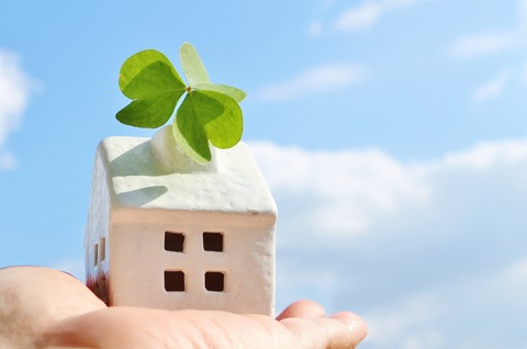 Ideal family and myhome - image - hand on miniature house