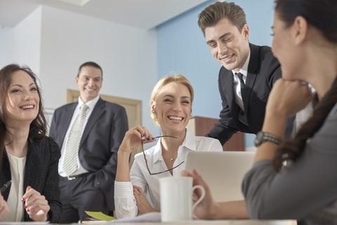 business-man-woman-communication-smile