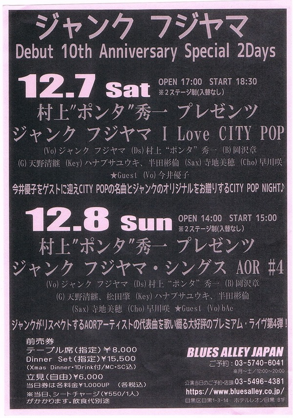 junk citypop info