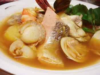 魚介類のスープカレー!