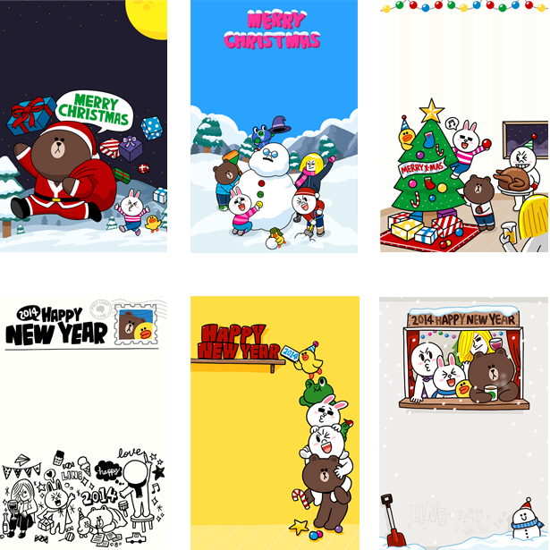 LINE-Cardクリスマス・新年カード