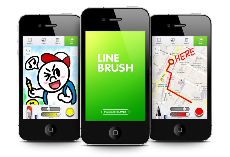 Line Art App : Nhn japan releases line brush official drawing app