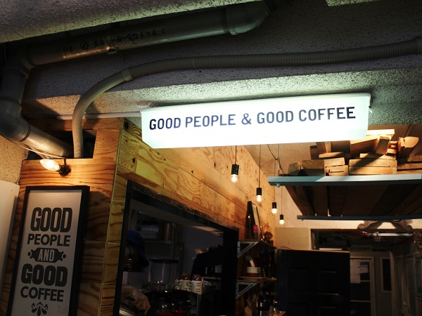 Good People&Good Coffe店内看板