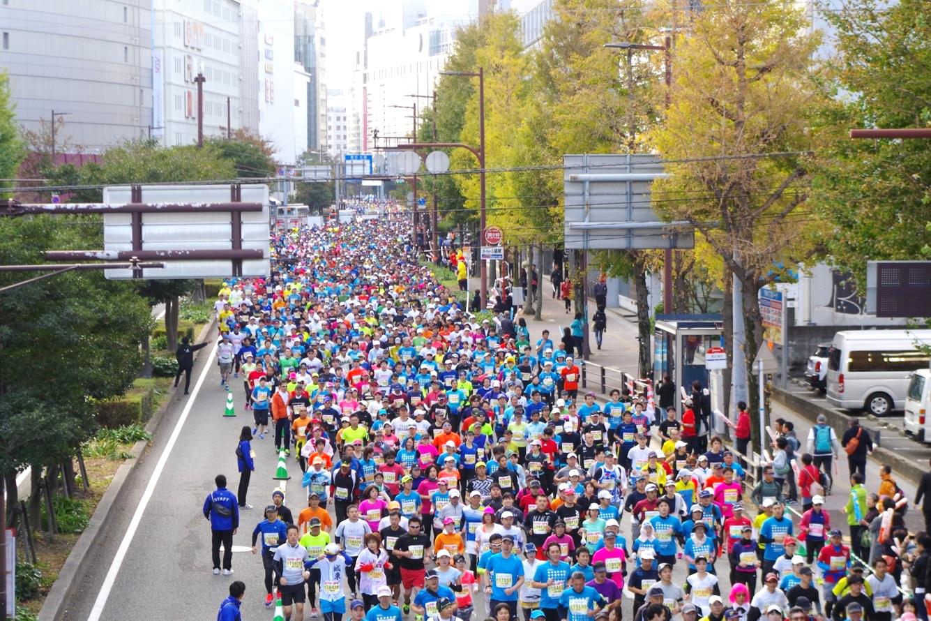 LINE 福岡マラソン_スタート