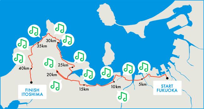 福岡マラソン LINE MUSIC