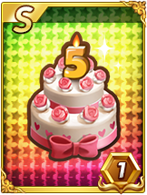 [Sクラス]LINE GAME 5周年記念ケーキ
