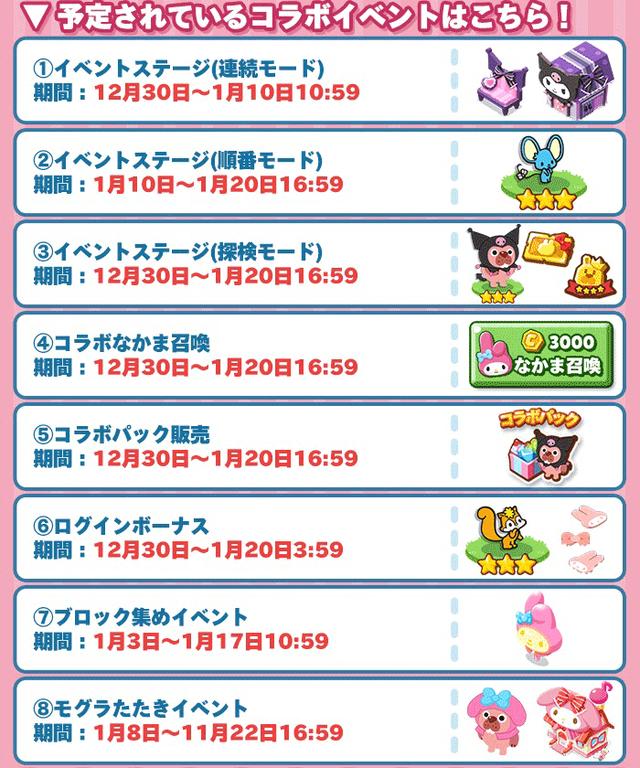 イベントリスト