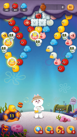 160920_LINE Bubble2_SpongeBob_Slot Play_JP