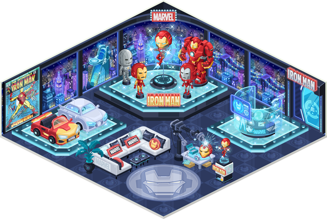 LINE PLAY_0522_Iron Man Official Room2