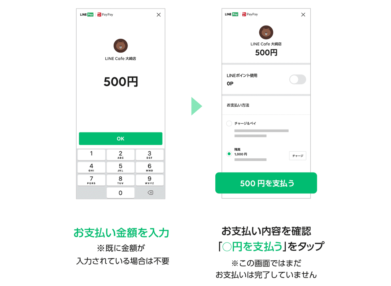 PayPay_LINE Pay_使い方②