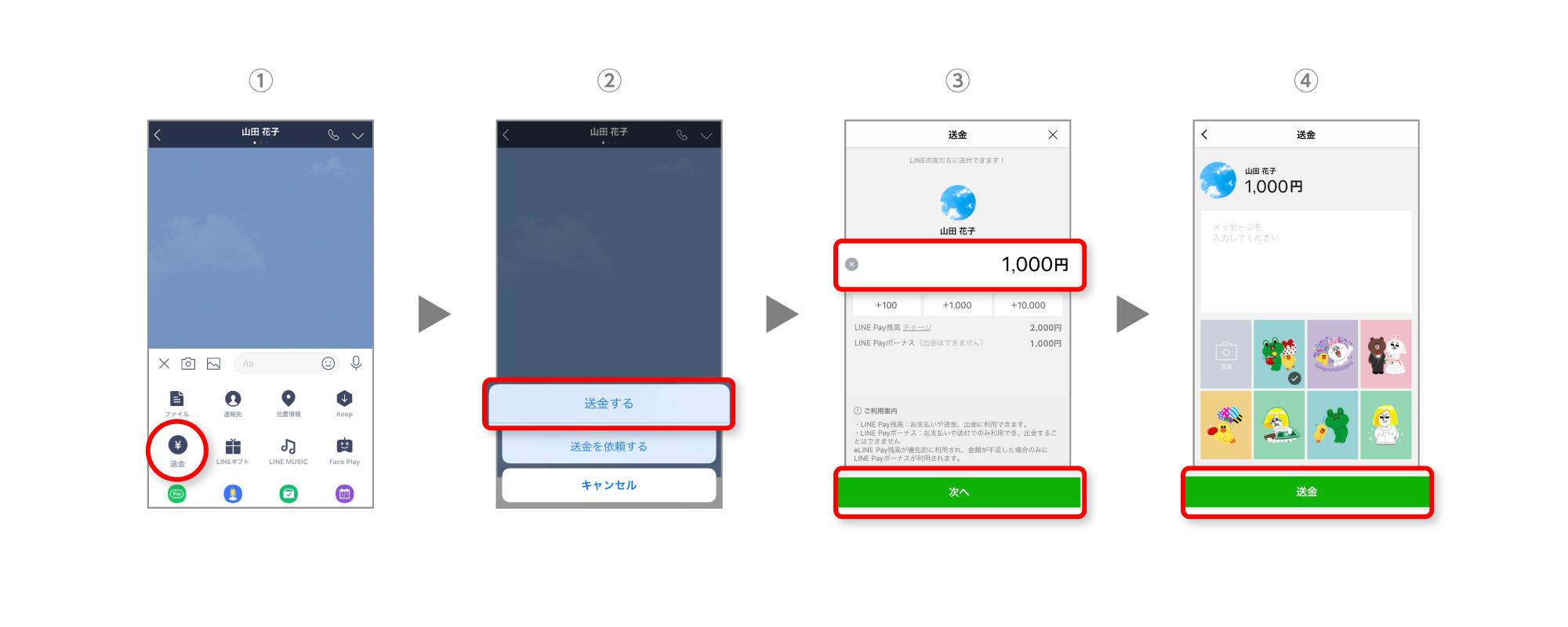 送金」「割り勘」「出金」の方法 : LINE Pay 公式ブログ