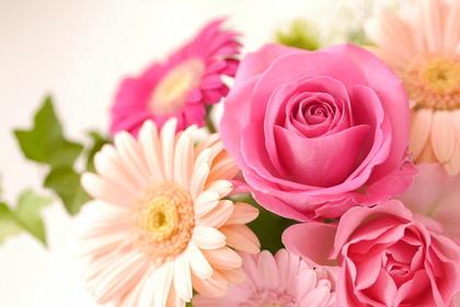 花を持たせる