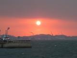 祝福の夕陽