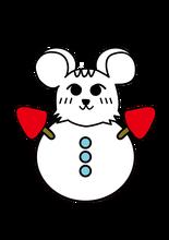 りすけ_雪だるま(安藤さん作成)