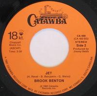 Brook Benton Jet 1982    Catawba Records