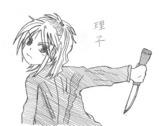 ボールペン画/理子