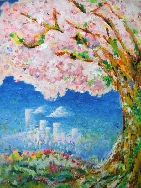 桜の丘の千年桜