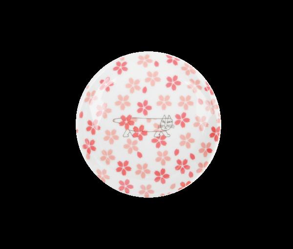 さくらのマイキー豆皿(波佐見焼)