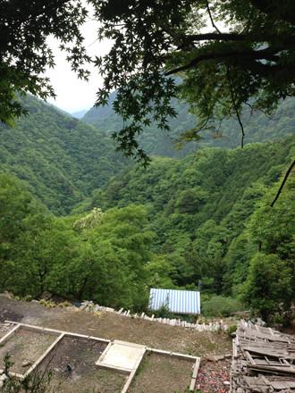 倉沢集落の全景