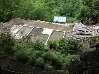 倉沢集落の住居新しい