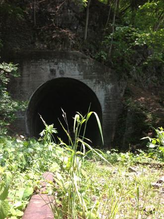 小河内線トンネル入り口