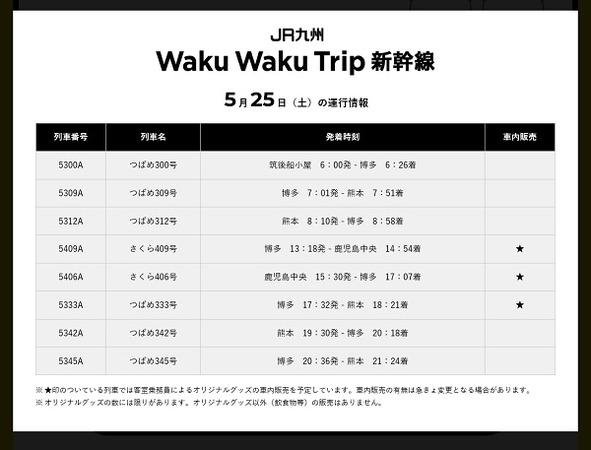 12 ミッキー新幹線時刻表