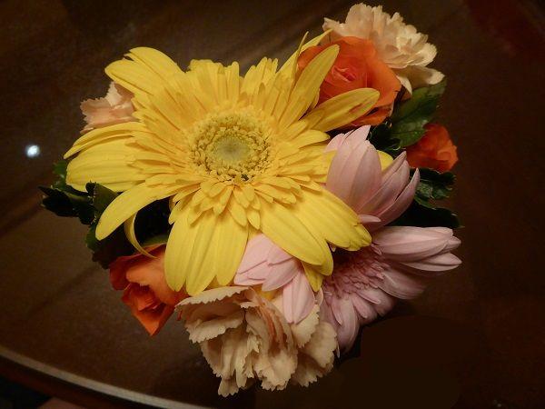 5 テラスとハーバールームの花