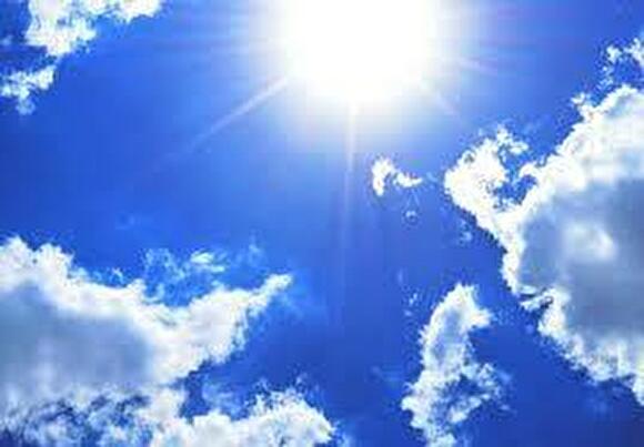 0sun and blue sky