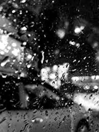 0car window in the rain