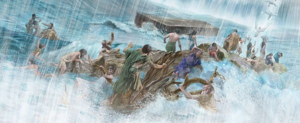 0noah's flood and demons