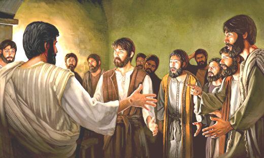 0jesus met his disciples after his resurrection
