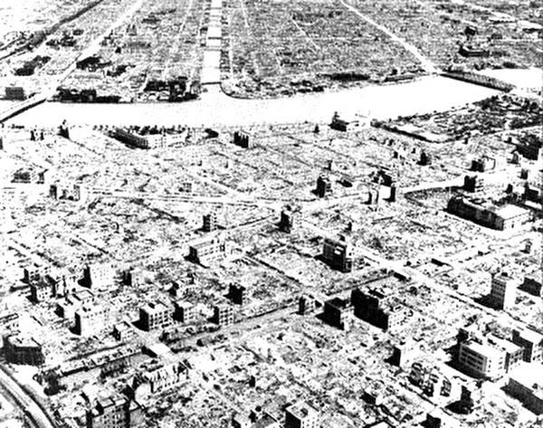 0tokyo air raid after 1945