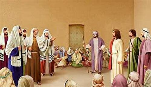 0jesus and pharisees