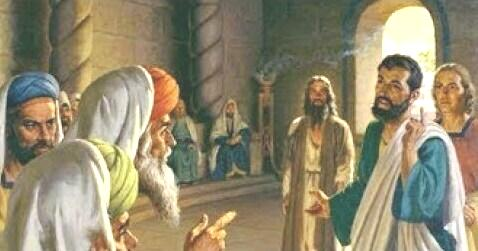 0apostles against sanhedrin
