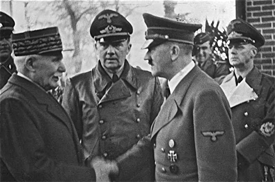 0head of vichy and adolf hitler