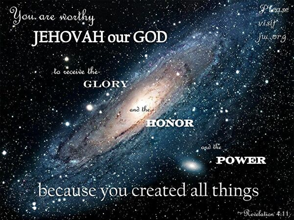 0jehovah created the universe