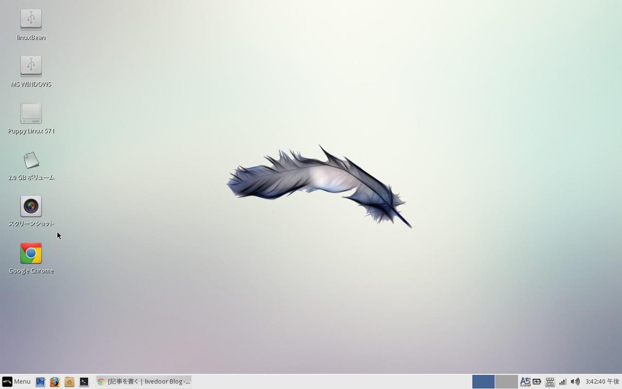linuxBeanはlinuxBean設定ウィザードを起動してGoogle Chromeにチェックを入れてOKをするだけでインストールできます。
