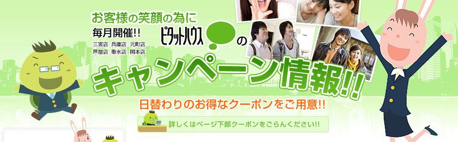 お客様の笑顔の為に 毎月開催!!兵庫店、元町店、神戸・三宮店ピタットハウスのキャンペーン情報!! 日替わりのお得なクーポンもご用意!!