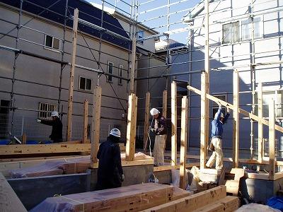 1.2階柱建て・100109