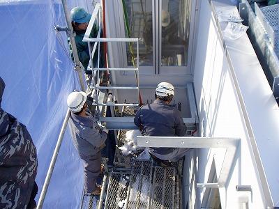 鉄骨階段設置・100203 (6)