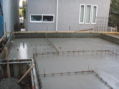 耐圧コンクリート打設完了・091104 (1)
