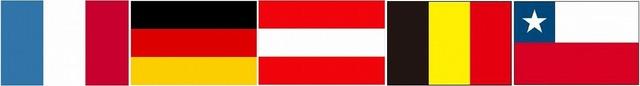 創価学会をカルト指定している5カ国の国旗