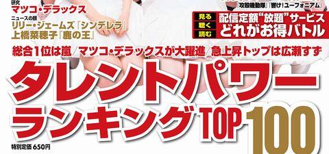 2015年2月タレントパワーランキング1位Perfume