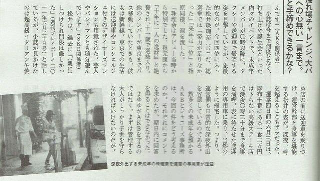 松井珠理奈バンドマン