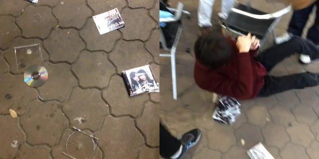 NMB48のCDを破壊して遊ぶHKTファン