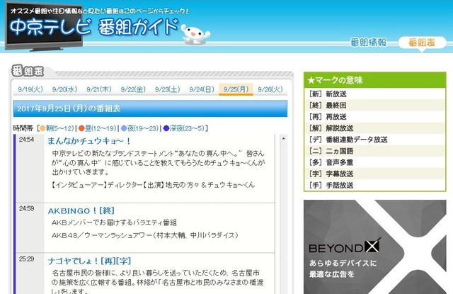 AKBINGO、中京テレビでの放送が終了 ネット局は8局にhttps://rosie.2ch.net/test/read.cgi/akb/1505755168/