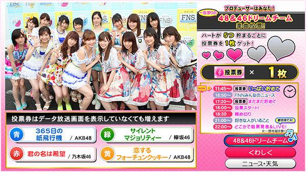 AKB48&46ドリームチーム楽曲投票