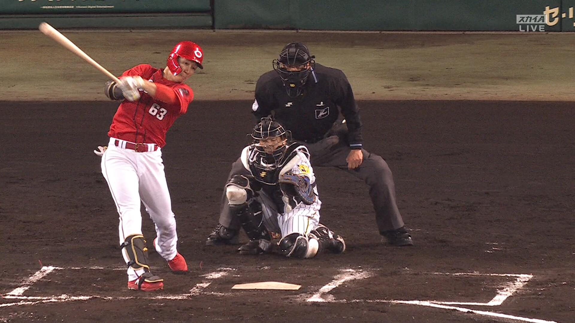 【珍プレー】 広島・西川のファールボールが審判のポケットに直接ホールインワンwwww