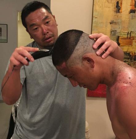 巨人・小林誠司の髪型、めちゃめちゃになる