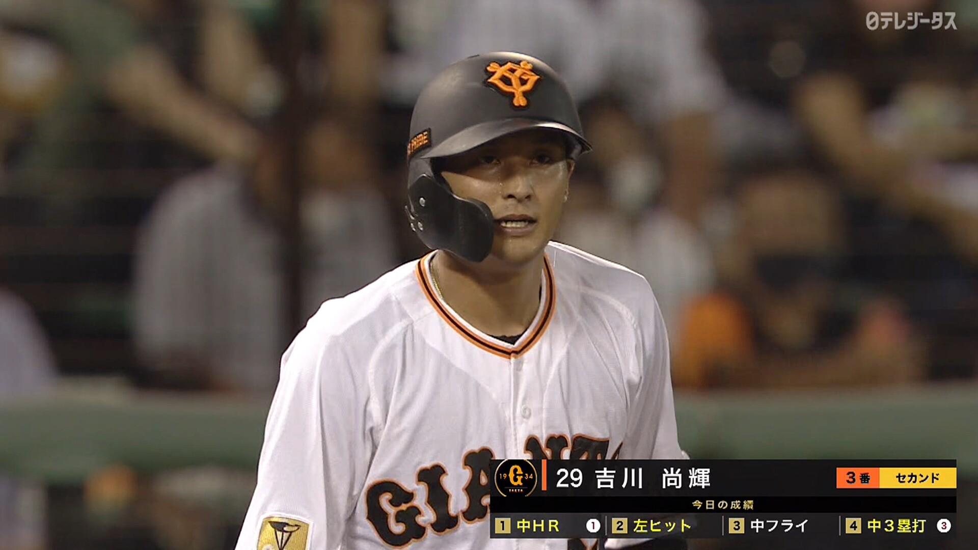 吉川尚輝、凱旋試合で走者一掃スリーベース! サイクルヒットにリーチ